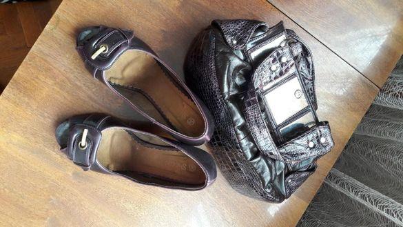 Комплект обувки и чанта