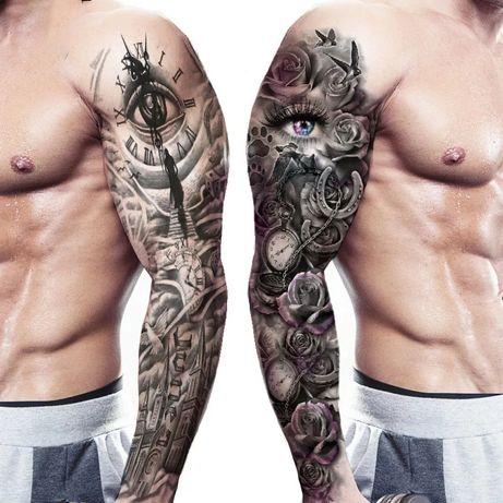 Временни Татуировки * РЪКАВ * Нов Модел * Водоустойчиви Стикери *