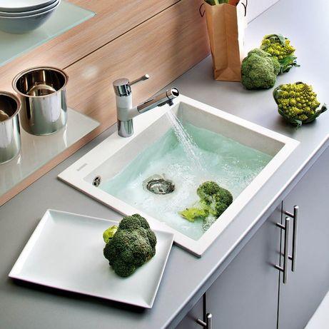 Chiuveta bucatarie granit CookingAid Cube ON5610 Alba / Polar White
