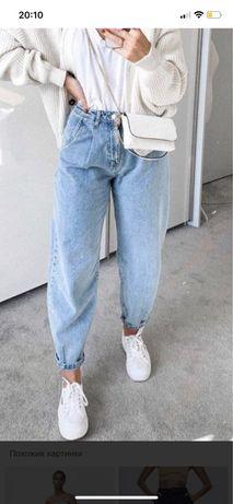 Голубые джинсы банана ZARA