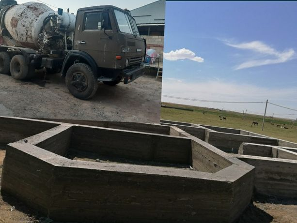 КамАЗ миксер  бетон мешалка