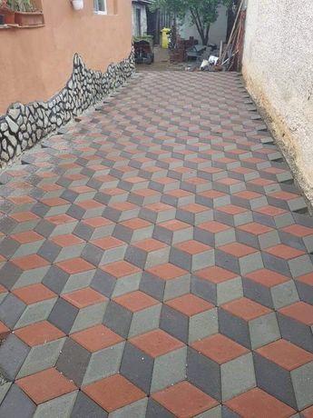 Pavaj romb / 3D din beton