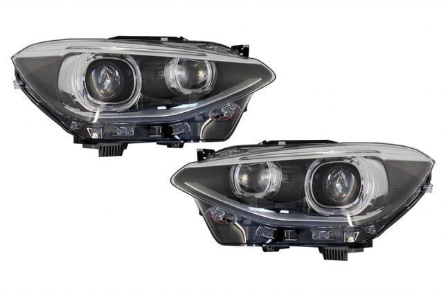 Faruri LED DRL Bmw 1 Series F20 F21 (2011-2014) Angel Eyes Negru