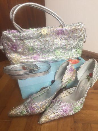 Нови Луксозни Испански обувки и чанта UAD MEDANI