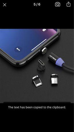 Cablu de date cu mufa magnetica 1m , iphone sau orice tlf samsung