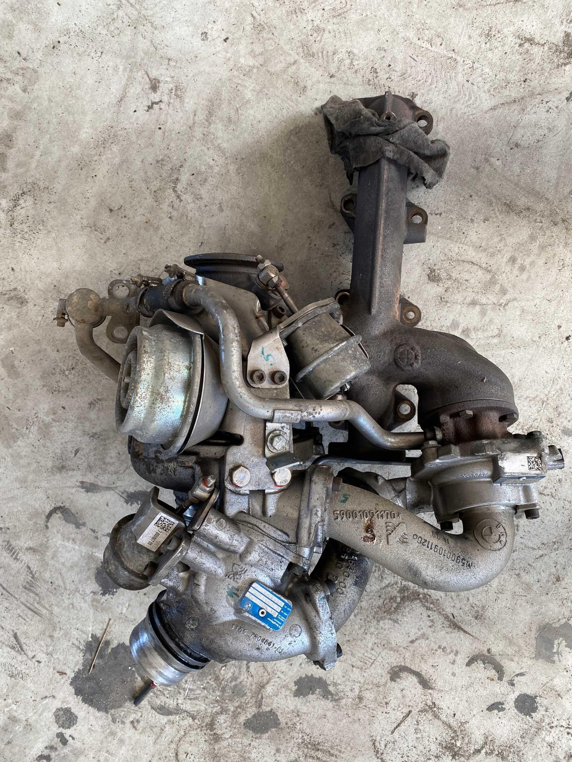 Би турбо и изпускателен колектор - /БМВ/BMW/- е81 123d N47D 204кс.