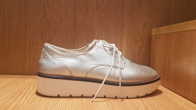 Pantofi piele talpa joasa Pull&Bear