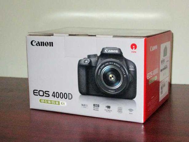 Canon EOS 4000D + Obiectiv EF-S 18-55 Nou. Sigilat