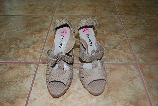 sandale de piele VIA UNO originale noi marimea 36.5