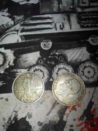 Monede argint 2 Lei Carol 1