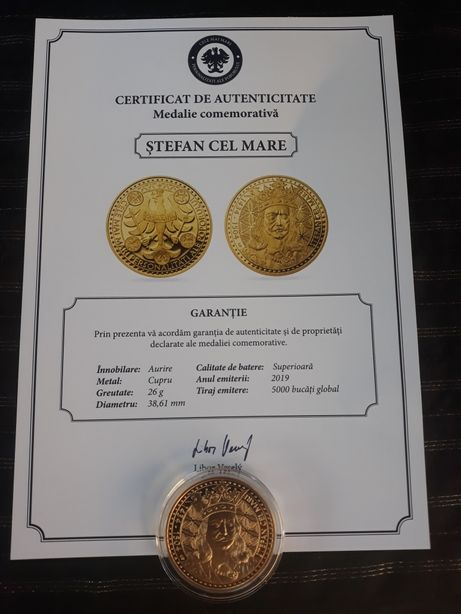 Medalie comemorativă Aur-schimb