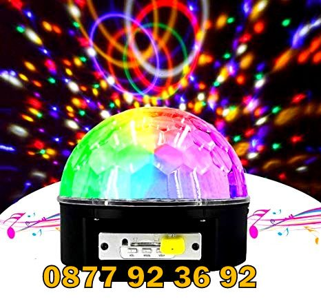 ДИСКО ТОПКА / Диско лампа / LED Light Magic Ball Crystal effect