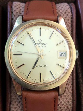 Vand ceas Certina Bristol 228 automatic placat aur stare impecabila