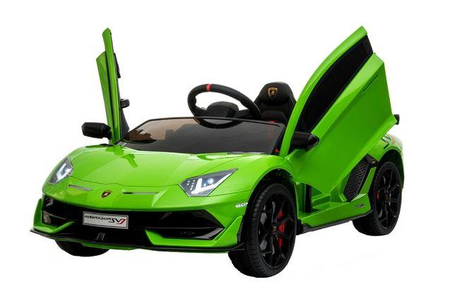 Masinuta electrica pentru copii Lamborghini Aventador SVJ 2x35W #Verde