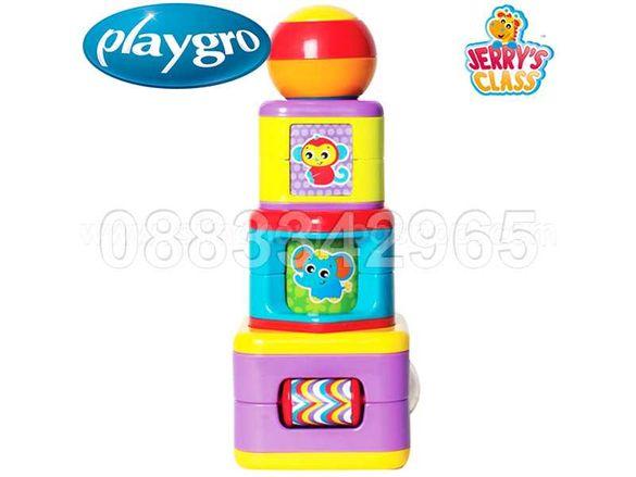 НОВИ! Playgro Активна играчка кубчета КУЛА