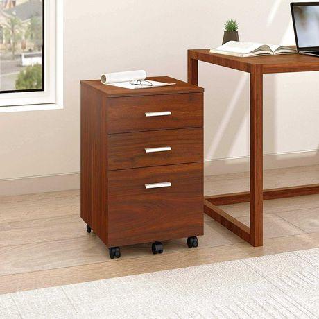 Devaise Мобилен офис шкаф с 3 чекмеджета 2 цвята