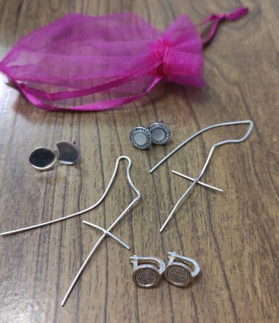 Сребърни обеци,сребърен пръстен комплект