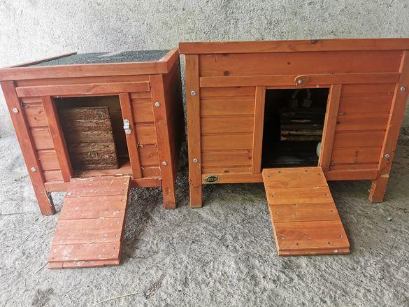 Дървени къщички, клетки за животни