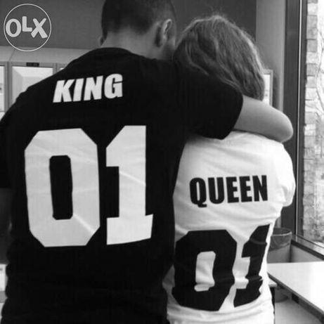 За ВЛЮБЕНИ ! LOVE тениски с НОМЕР ПО ИЗБОР King Queen!