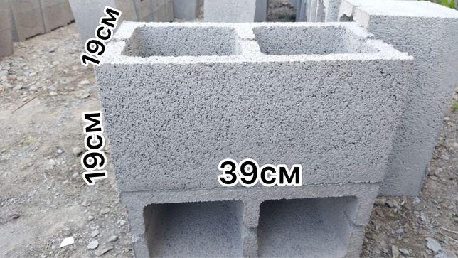 Сплитерные блоки 39*19*19