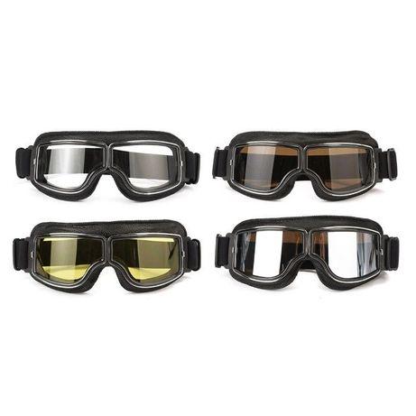 Очила за мотор мото чопър рокер маски с ластик нови