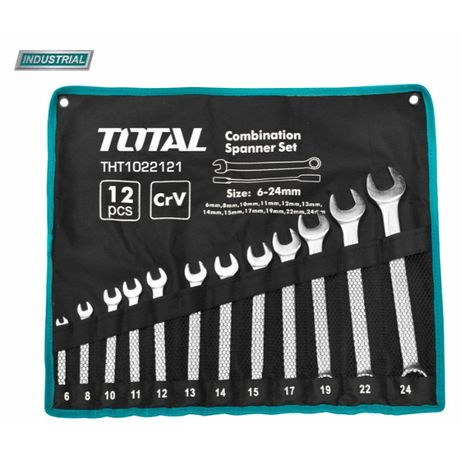 TOTAL - Set 12 chei combinate - 6-24mm (INDUSTRIAL)
