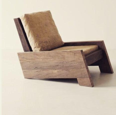 Scaun lemn gradina
