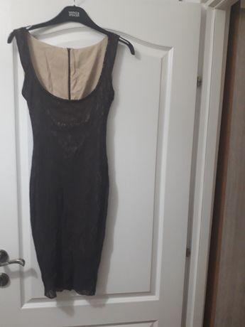 Rochie NOUA din satin elastic acoperit cu dantela fina elastica