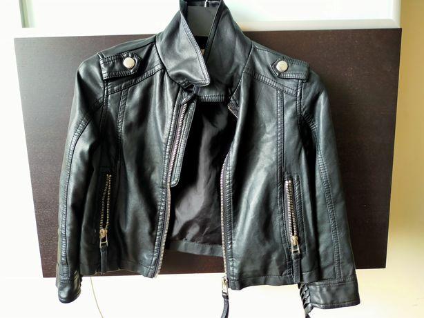 Куртка на девочку кожаная Zara kids