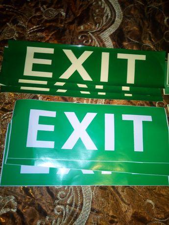 Sticker exit, acces scării