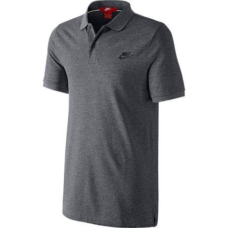 Tricou Polo Nike Original-NOU-Sigilat-Carbon GREY-S-Slim FIT-BBC100%