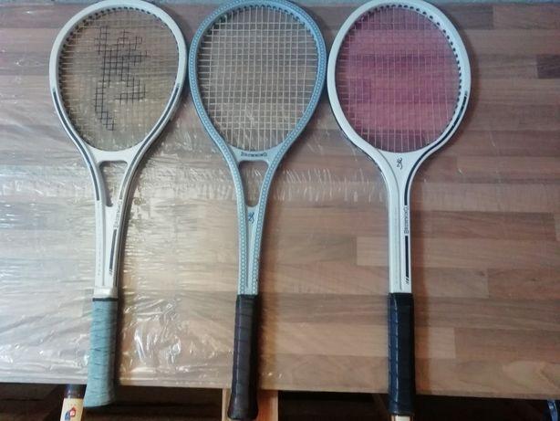 3 Rachete tenis vechi colecție Browning rare superbe made în Belgium