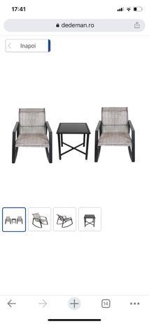 Set gradinda cu 2 scaune balansoar, Victoria