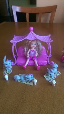 Три кукли Вarbie и техните домашни любимци