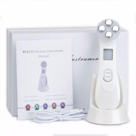 Апарат за лице с RF, LED и безиглена мезотерапия, бръчки, акне, кожа
