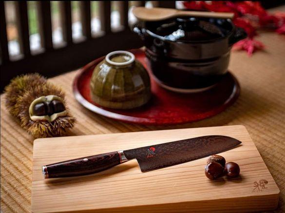 Японски Нож Miyabi 6000MCT, Santoku , 18см острие, включена доставка