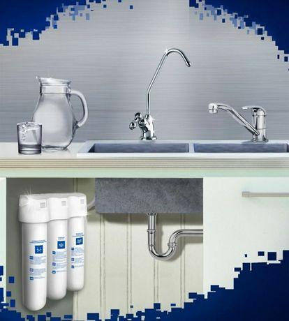 Установка фильтра для воды Аквафор Трио, Кристалл с выездом