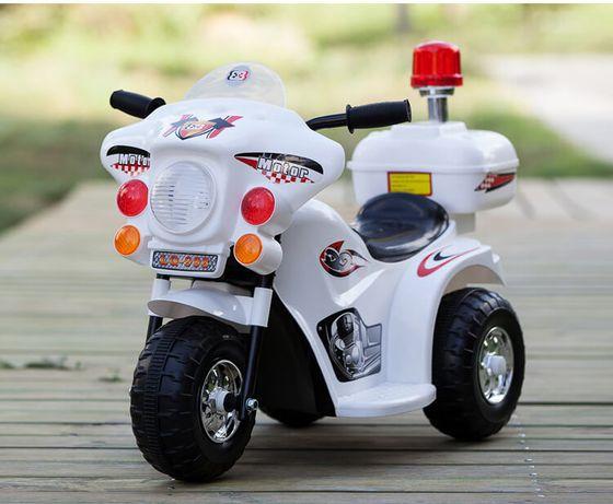 Motocicleta electrica cu 3 roti pentru copi 1-3 ani , LQ998 NOUA #ALB