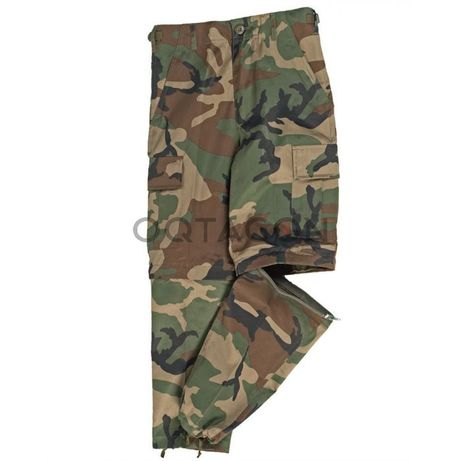 Pantaloni militari copii cu camuflaj BDU Mil-Tec Urban / Woodland