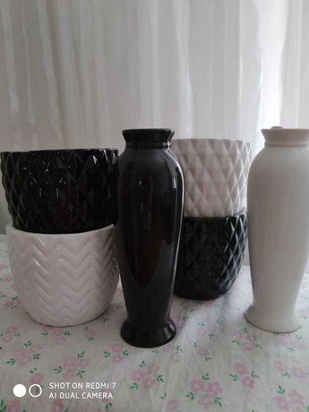 Декоративный горшок и ваза
