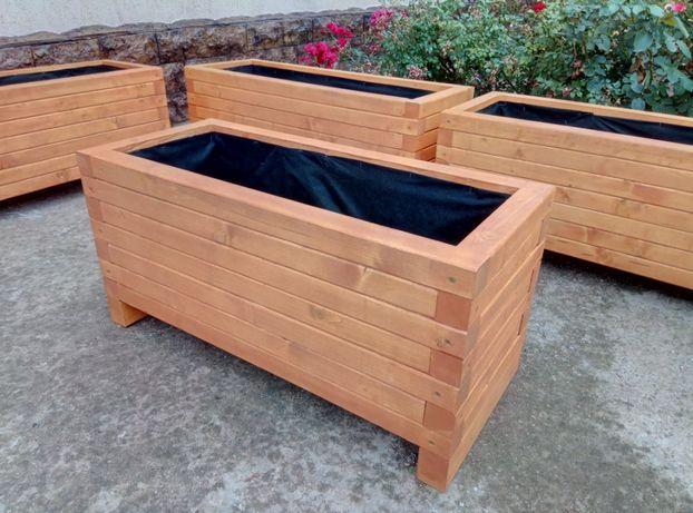 Jardiniere personalizate din lemn masiv, H40