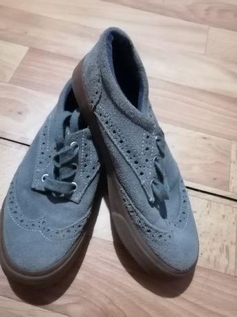 Обувь мальчик туфли-мокасины нубук размер 33, чёрные 32