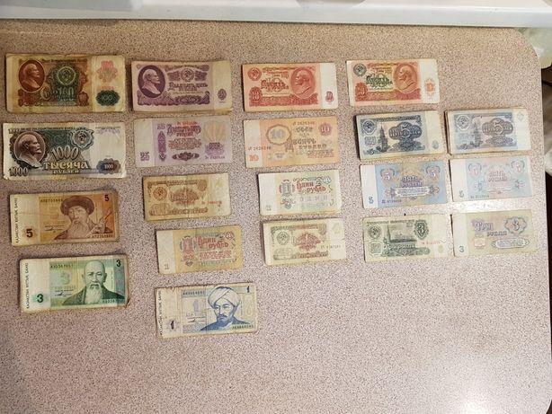 Деньги ссср и Первые банкноты Казахстана