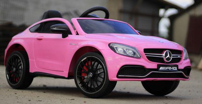 Masinuta electrica pentru copii Mercedes C63 AMG , Music player #Pink