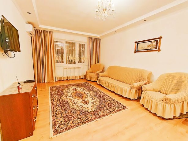 Квартира посуточно в районе Мега на Розбакиева, Удобное расположение.