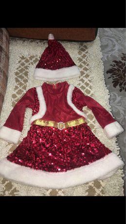Продается детское новогоднее платье деда мороза для девочки
