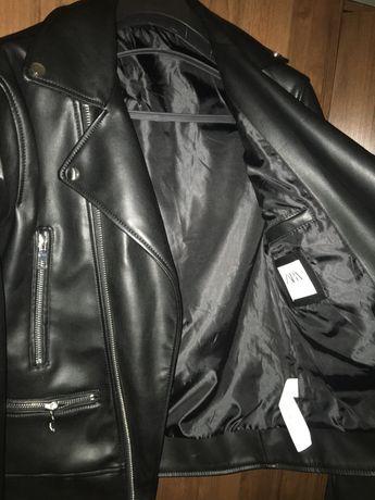 Новая Кожанная куртка-косуха Zara