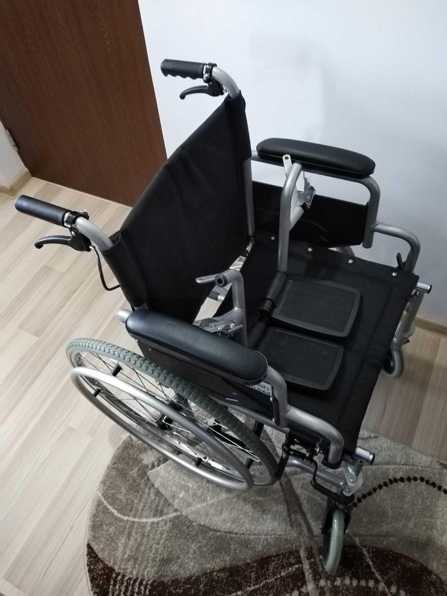 Scaun cu roti aluminiu pt pers cu dezabilitati