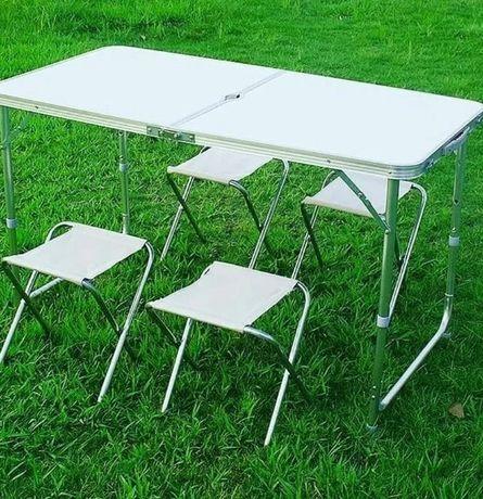 Стол раскладной+стулья для рыбалки