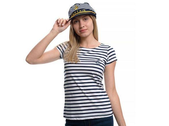 Дамски моряшки сет: тениска и капитанска шапка